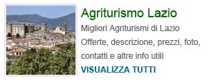Agriturismi in Lazio